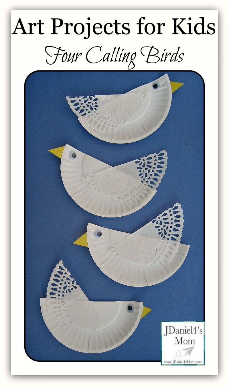 Art Projects For Kids- Four Calling Birds. Paper Plate CraftsPaper ...  sc 1 st  Pinterest & Four Calling Birds Paper Plate Craft- Fun craft works on cutting ...