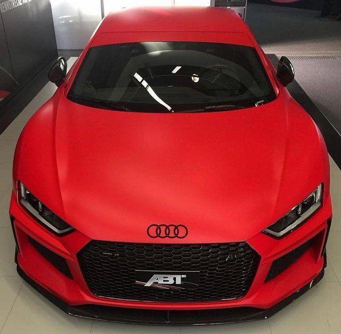 Matte Red Audi R8 - Audi Photos #audir8 Matte Red Audi R8 #audir8