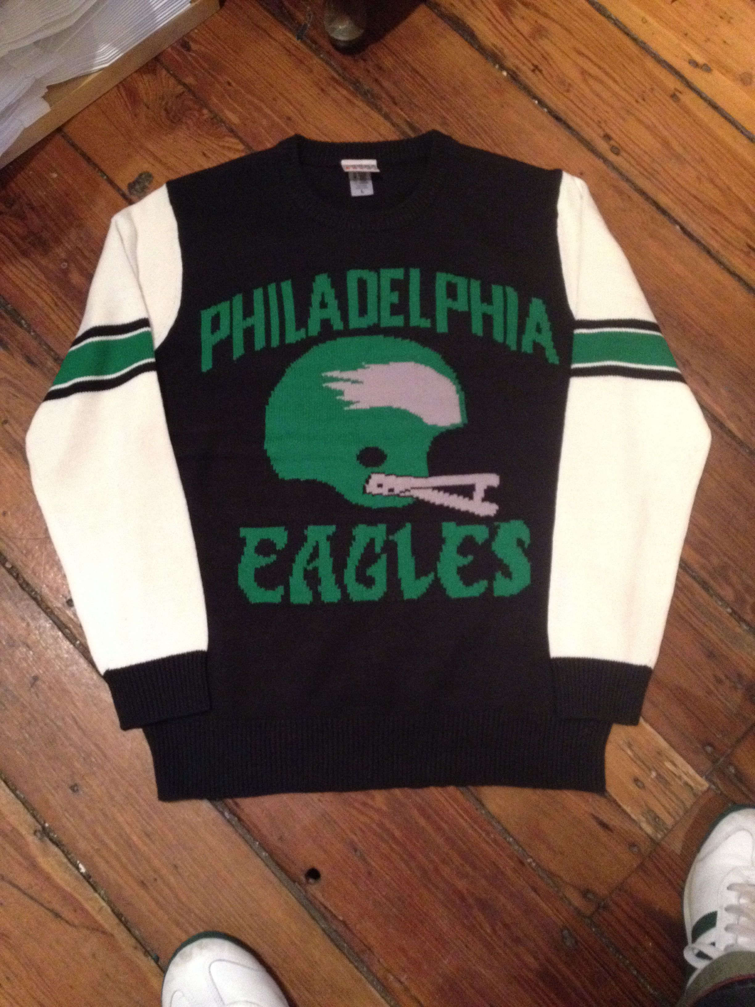 deb6e5426 Retro Philadelphia Eagles Junk Food Pop-Pop sweater (ala Silver Linings  Playbook).