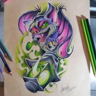 new school bat tattoo - Google Search | tattoo Bat wrist ...