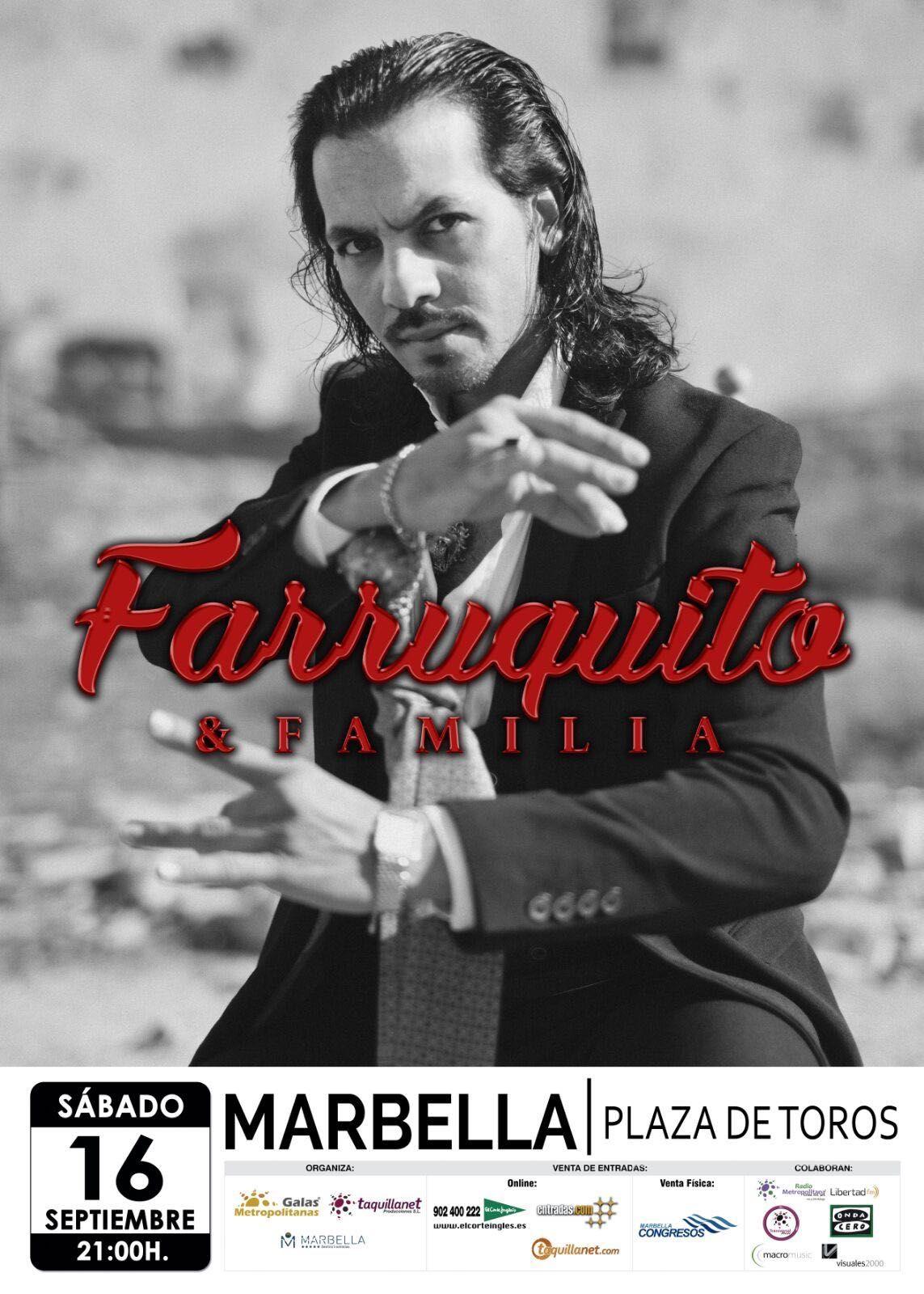 Farruquito & Familia en #Marbella. Sábado 16 Septiembre #2017 #Flamenco . Entradas a la venta: 902 400 222 ; www.elcorteingles.es ; taquillanet.com; entradas.com)