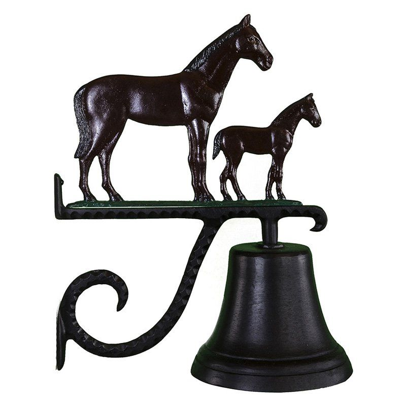 Cast Bell with Color Mare & Colt Ornament - CB-1-55-NC