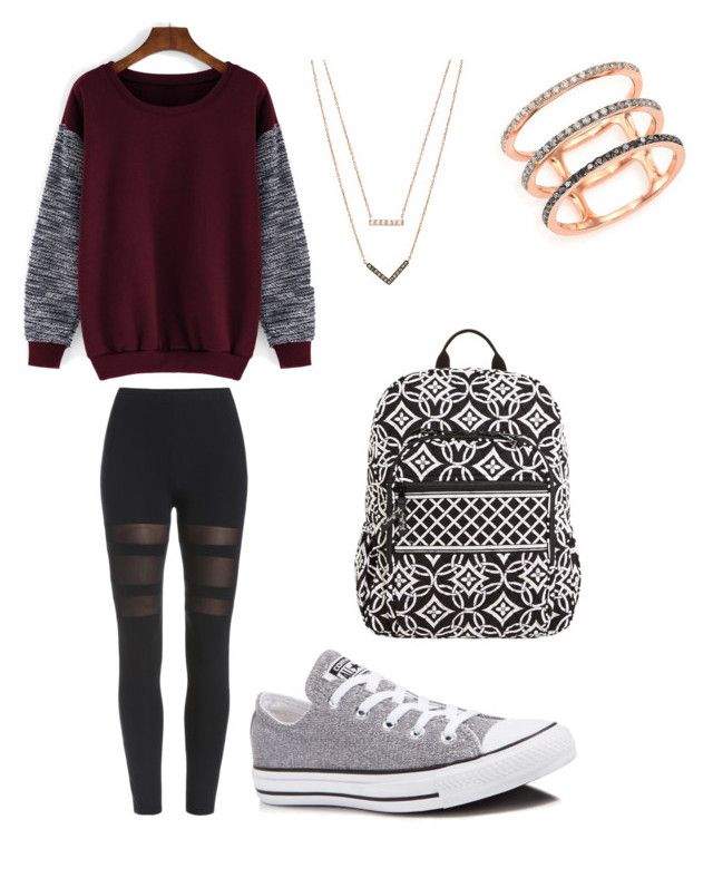 """""""School outfit I want."""" by m-jordan2019 on Polyvore featuring Converse, Michael Kors, EF Collection, Vera Bradley, women's clothing, women's fashion, women, female, woman and misses"""
