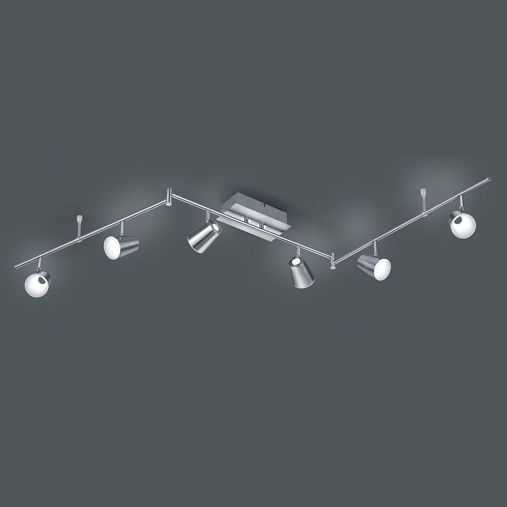 led balken auf schienen f r die decke in nickel matt und chrom lampen leuchten pinterest. Black Bedroom Furniture Sets. Home Design Ideas