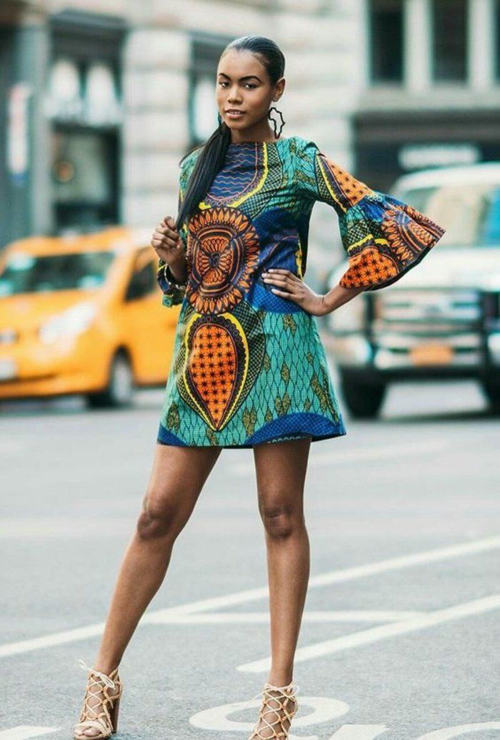 ab234b2dd4d Idée quelle robe africaine chic 2018 robe en pagne africain chic robe avec  manches