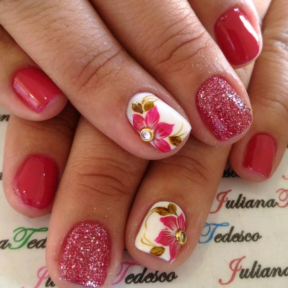 Pin by Juliana Tedesco on unhas de artes | Pinterest | Flower nail ...