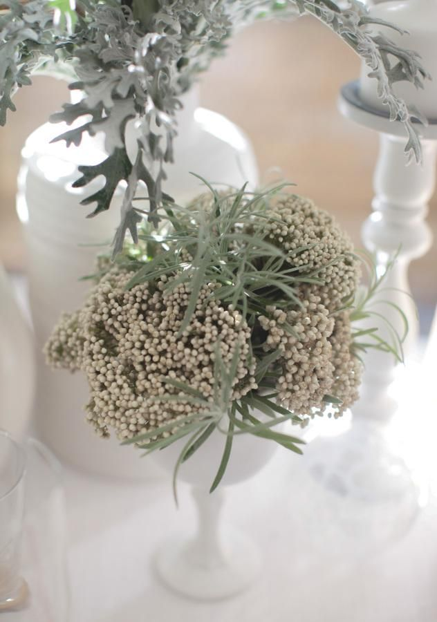 Mix Sage Green And White For A Winter Wedding
