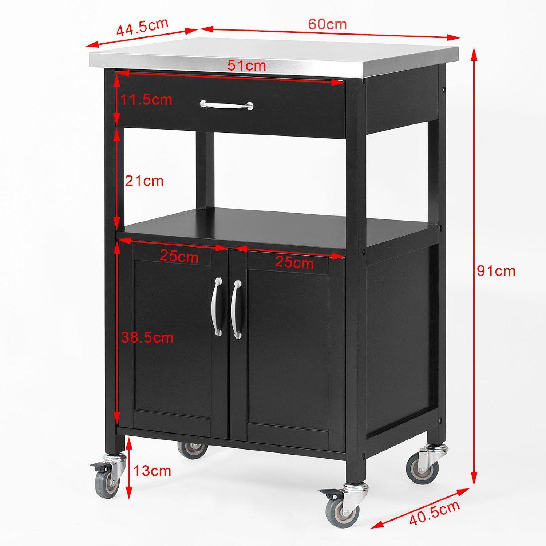 115 SoBuy® Carrito de servir, estantería de cocina, carrito de ...