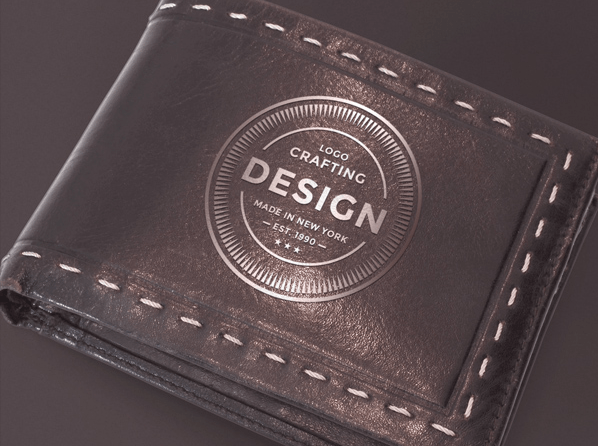 Leather Wallet Logo Mockup Freebies Fribly Leather Wallet Mens Personalized Leather Wallet Leather Wallet
