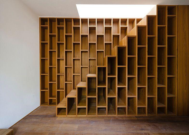 Boekenkast + trap = boekenkasttrap | Loft | Pinterest - Trap ...