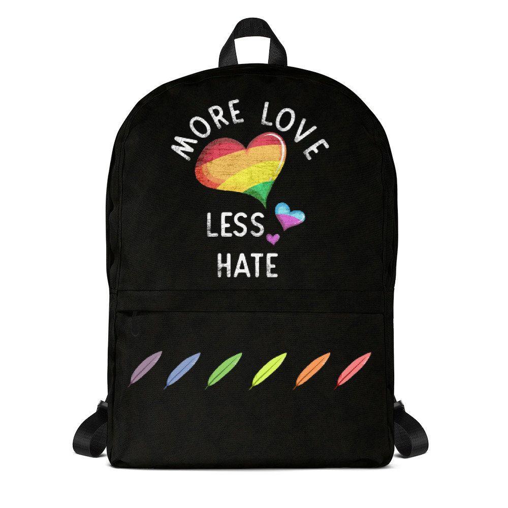 9644869accc9  backpacks  moreloveLessHate  Backpack -  Rainbow  LGBT  Heart Backpack -  LGBT Backpack