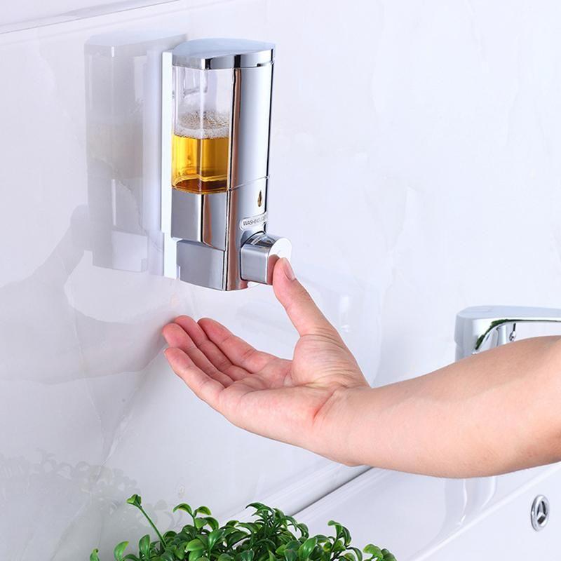 Shampoo Shower Soap Pump Dispenser Battery Powered 300ml Wall