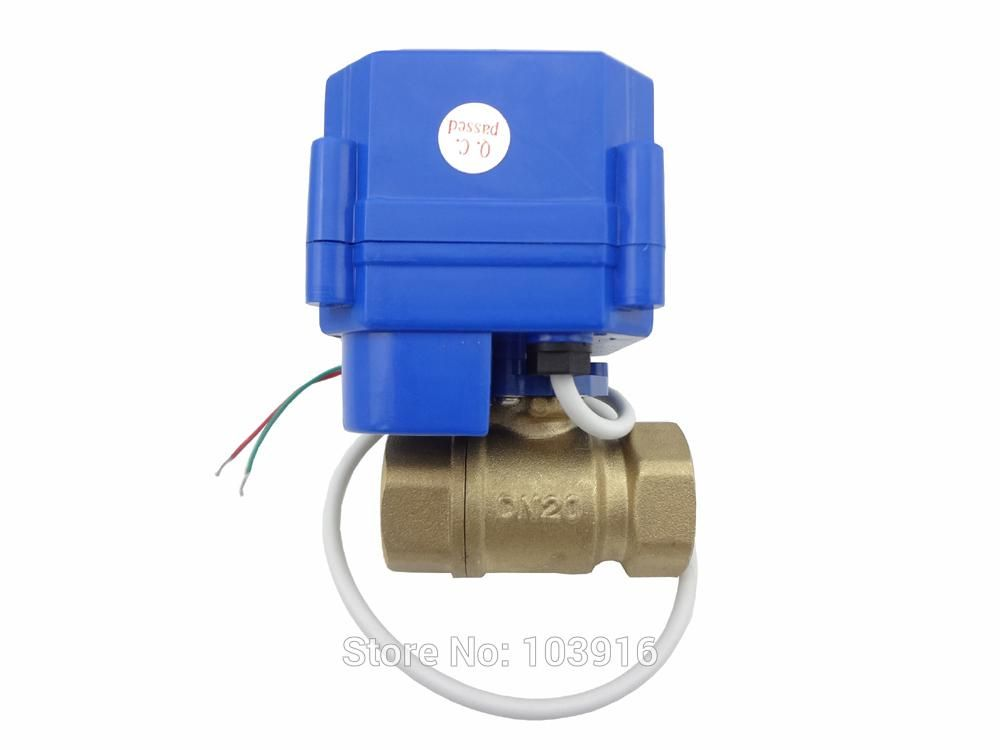 Motorized Ball Valve 2 Way 12v Dn20 Reduce Port With Manual Switch Brass Electrical Valve Ms 2 20 Ms 12v R01 1 Switch