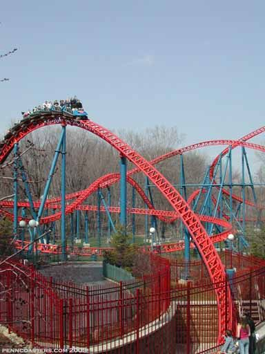 Superman Ride Of Steel Photo From Six Flags New England Thrill Ride Roller Coaster Amusement Park