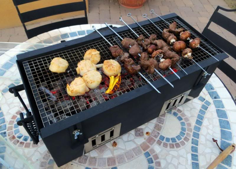 diy japanese konro grill for yakitori cooking grills. Black Bedroom Furniture Sets. Home Design Ideas