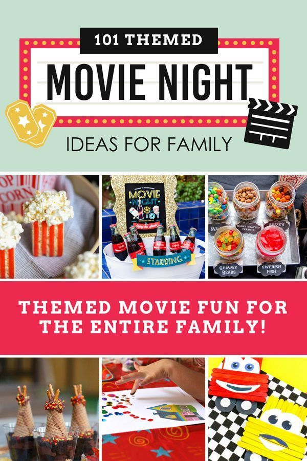 Themed Movie Night Ideas for Family - From #disneymovies