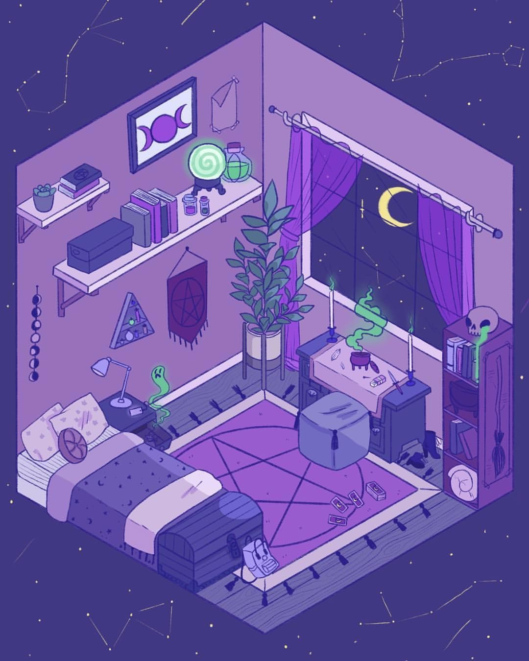 Simple Bedroom Drawing: Messing Around With The Isometric Drawing Guides That