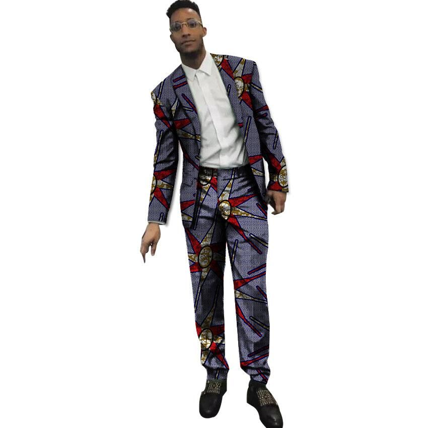 4c96628dc0 African Print Blazer And Pants 2 Pieces Set Men Blazers African ...