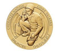 Cherokee Nation Code Talkers Bronze Medal 3 Inch