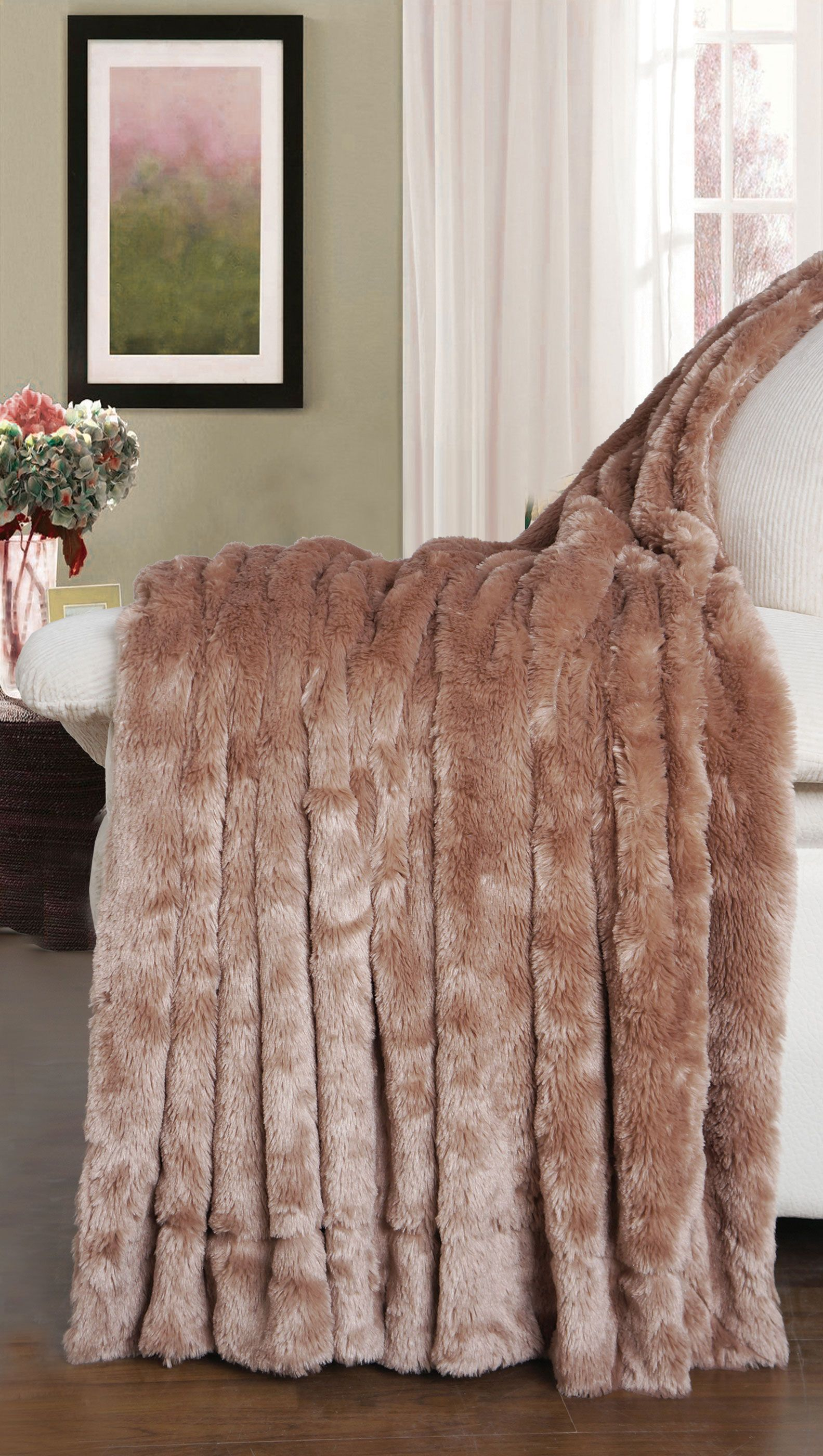 fur soft faux throw on free embossed orders bed over bath overstock super shipping bedding blanket product
