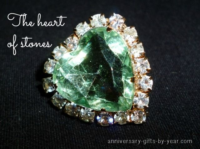 Traditional gemstone gift for a 55th wedding anniversary