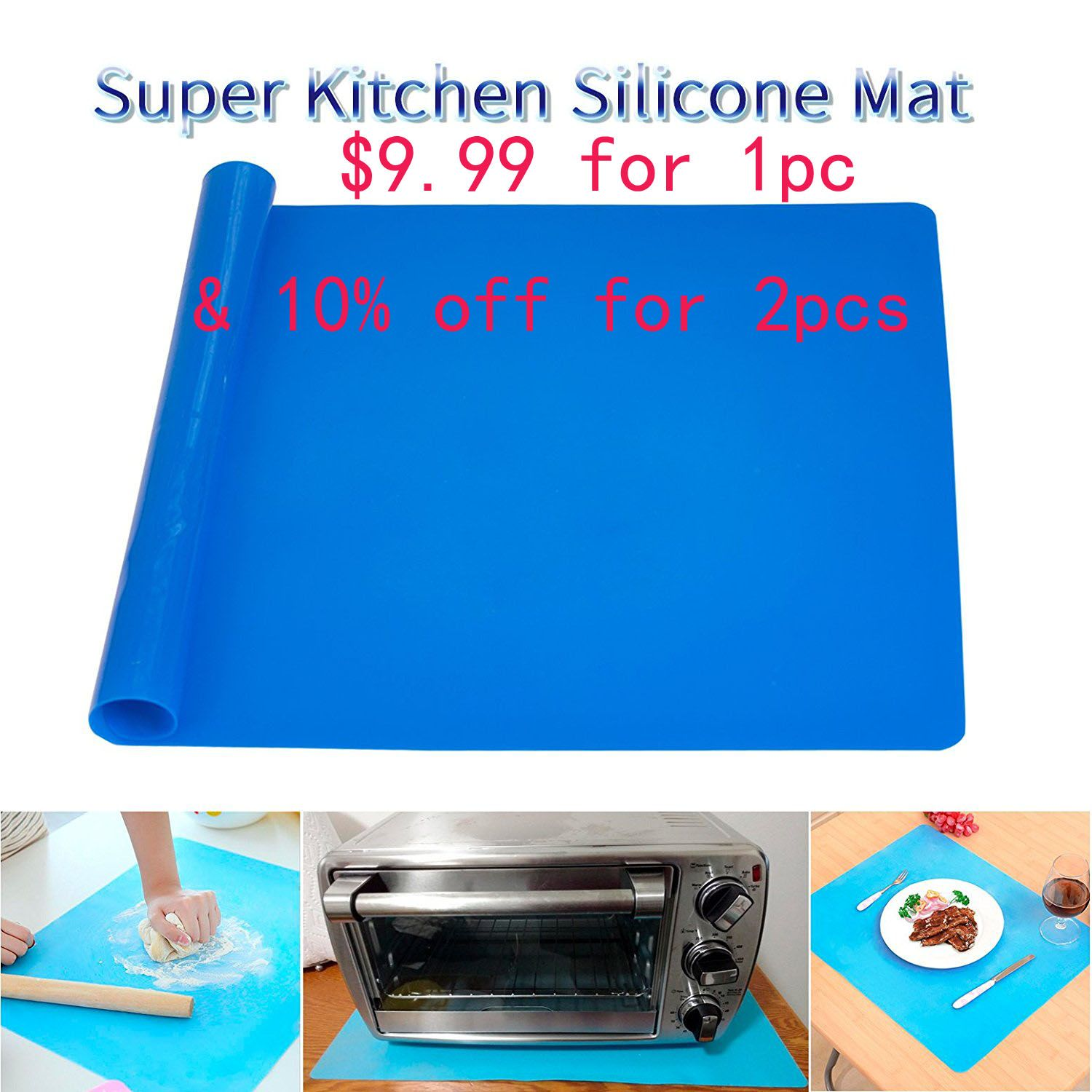 9 9 For 1pc Of Food Grade Silicon Baking Mat And 10 Off For