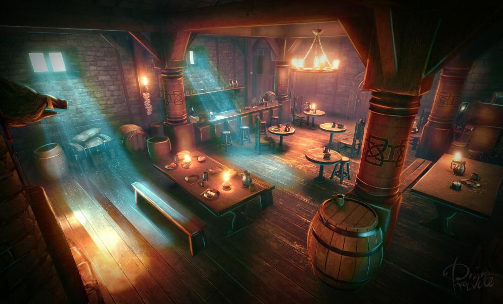 Artstation Medieval Tavern Patrycja Saniternik Tavern Medieval Wallpaper