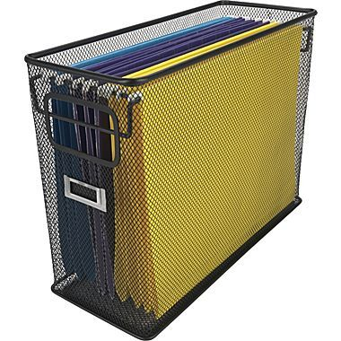 Black Wire Mesh Tabletop File Stop Desk Overwhelm