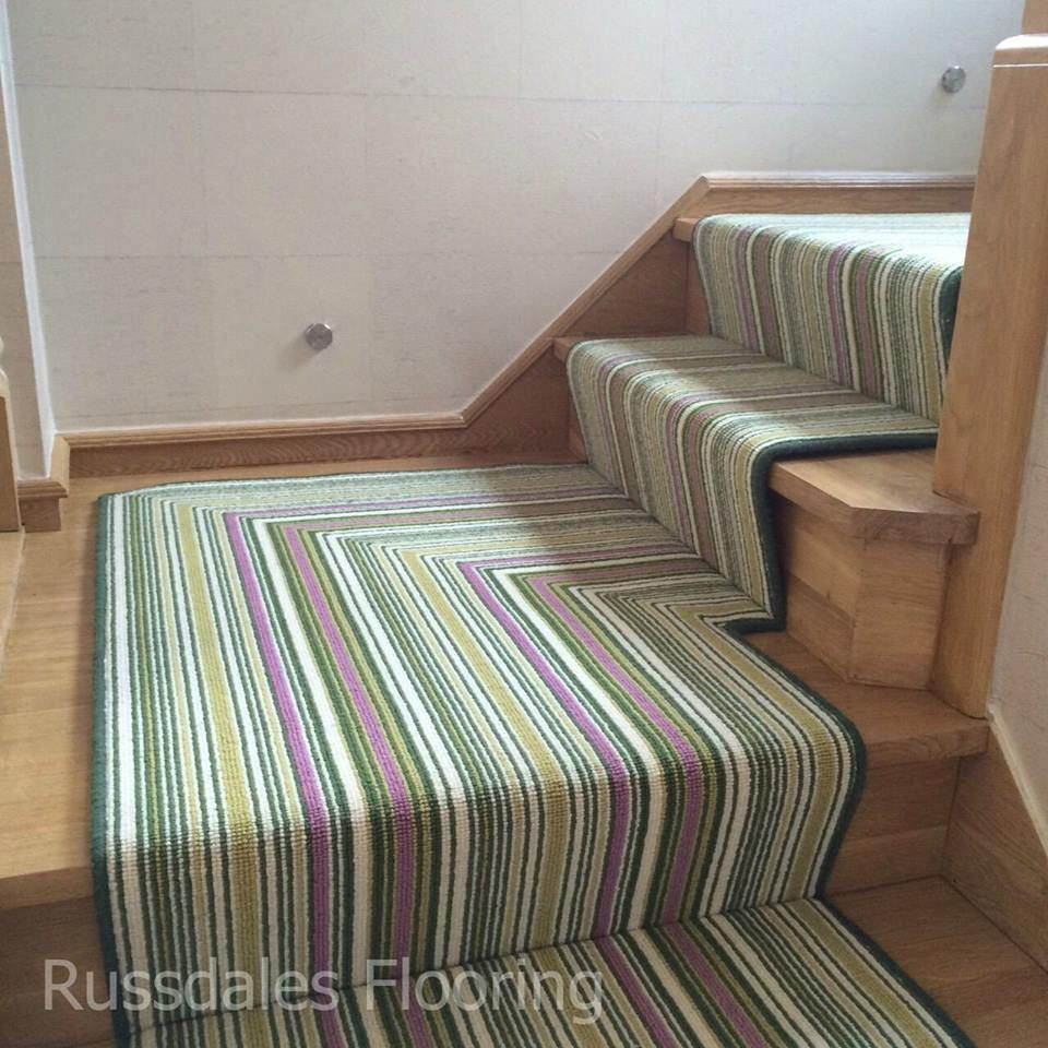 Crucial Trading Biscayne Lime Stripe Stair Runner Flooring Stairrunner Interiordesign Decor