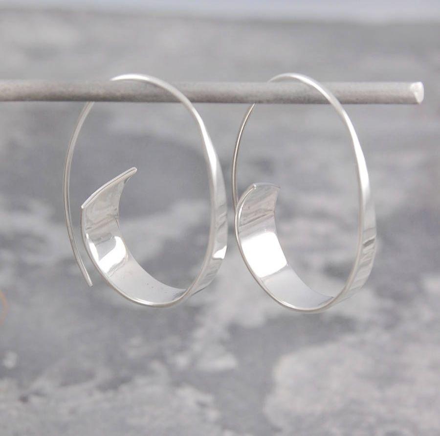 Ruby diamond hoop earrings silver hoop earrings adelaide hoop