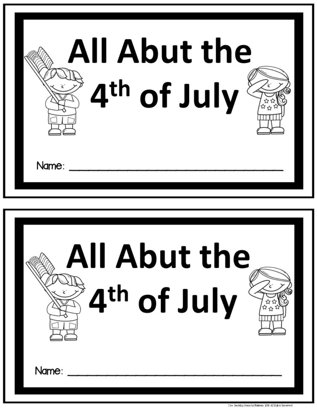 4th Of July Centers Amp Actvities
