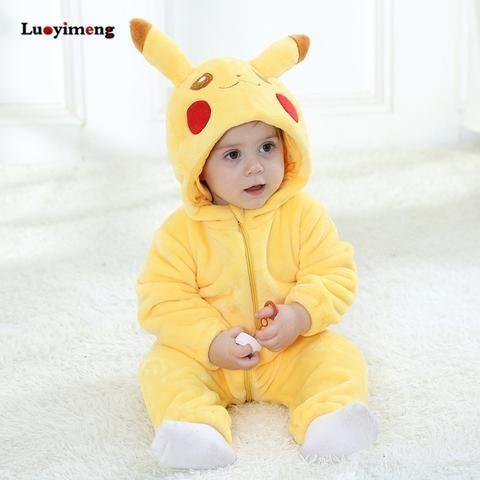 Baby Rompers Baby Girl Clothes Pikachu Kigurumi Kids Onesie Anime