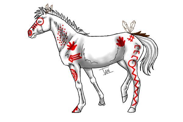 American Indian War Paint Symbols Native america.