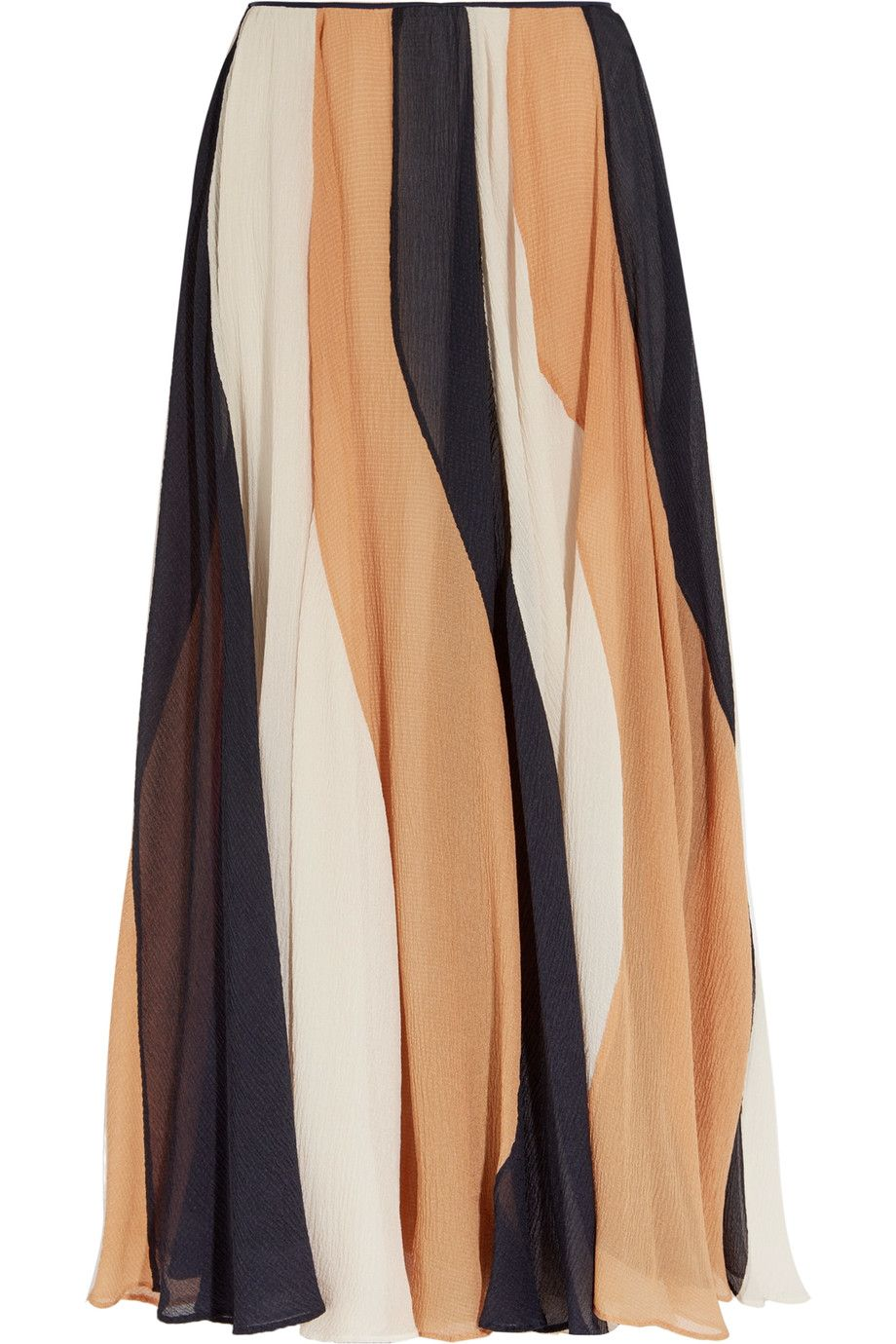 69fe580c661f Shop on-sale Roksanda Zaha striped silk-seersucker midi skirt. Browse other  discount designer Skirts   more on The Most Fashionable Fashion Outlet