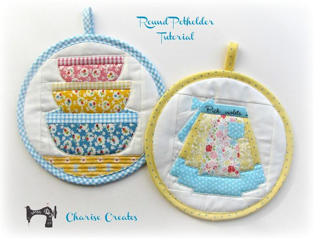 Charise Creates: Christmas Sewing - Round Potholder and a Tutorial ...