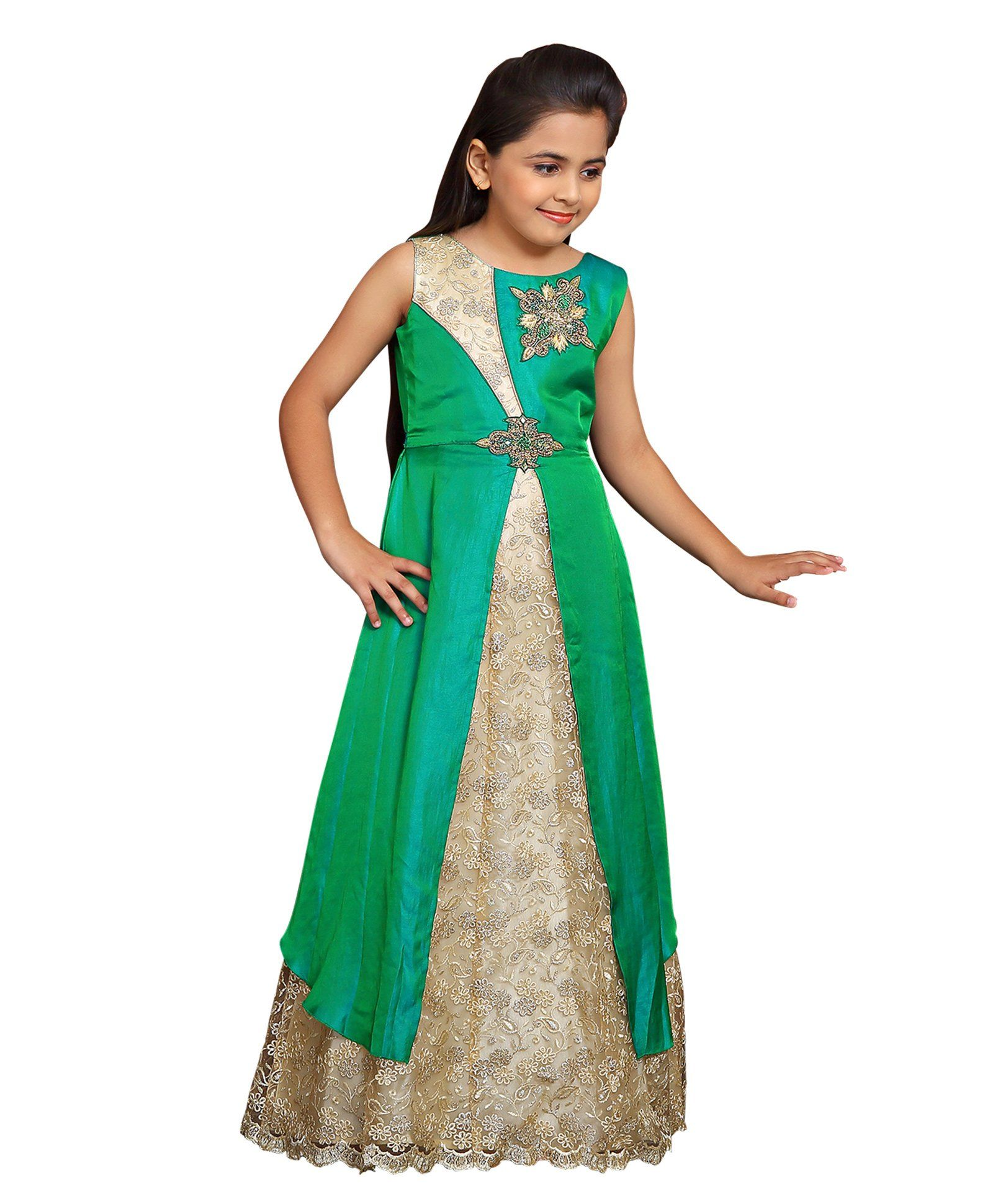 7d66973ec2 Buy Betty By Tiny Kingdom Sleeveless Classic Evening Gown Green for Girls  (2-3