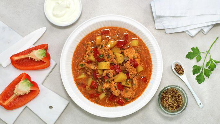 Kyllinggryte med paprika og sennep - MatPrat