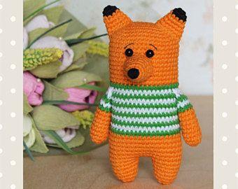 Little fox PATTERN- crochet animal pattern - amigurumi pattern - crochet fox pattern