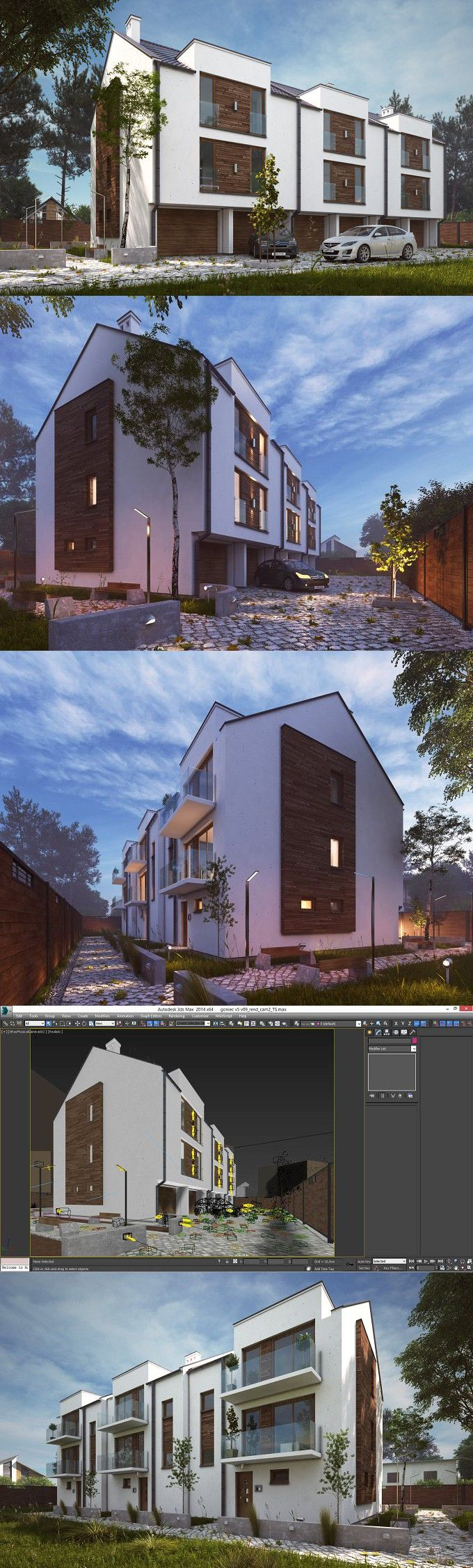 , Apartments Vray Night Day HDRI Scene. 3D Architecture, Hygen Blogs 2020, Hygen Blogs 2020