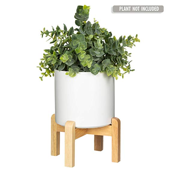 Amazon Com Mid Century Modern Plant Stand The Northern Habitat Wood Table Top Planter Wi Modern Plant Stand Mid Century Modern Plant Stand Wooden Plant Pots