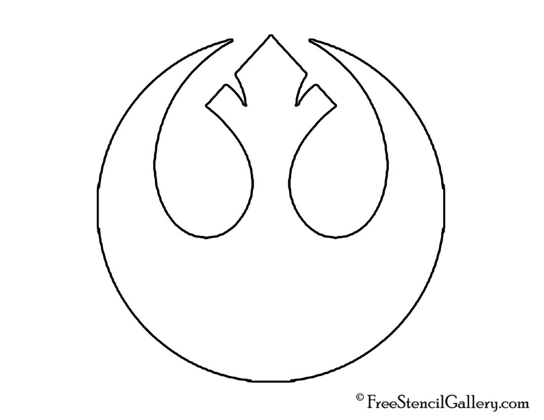 Girls bathroom sign outline - Free Star Wars Pumpkin Carving Designs Coupon For Kit Or Decorations Rebel Alliance Outline