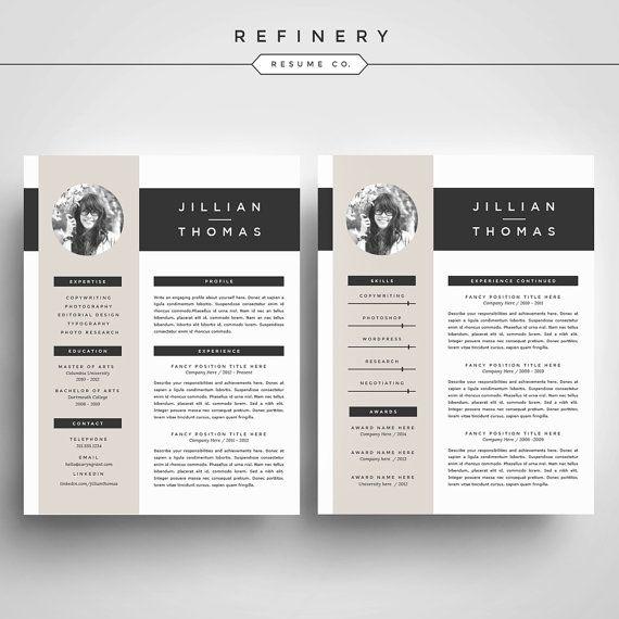 Kreative Lebenslauf Vorlage und Anschreiben von RefineryResumeCo ...