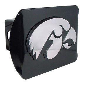 AMG University of Iowa Hawkeyes METAL Black Hitch Cover