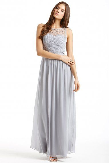 Grey Embellished Detail Maxi Dress Things To Wear Pinterest