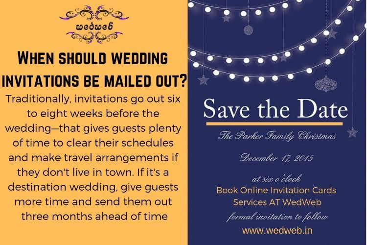 When Should Wedding Invitations Be Mailed Out Wedding Invitations Wedding Invitation Etiquette Invitations