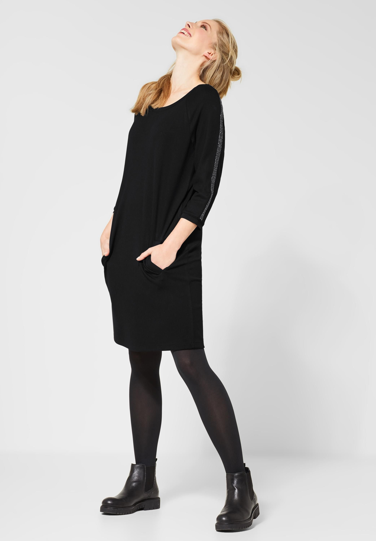 cecil - kleid mit strasssteinen in black   damenmode