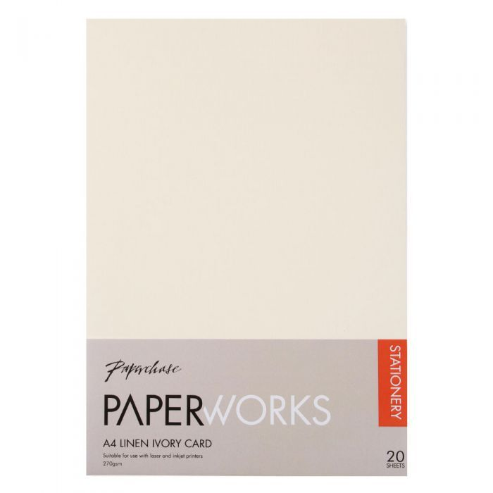 Paperworks Linen Ivory A4 Card