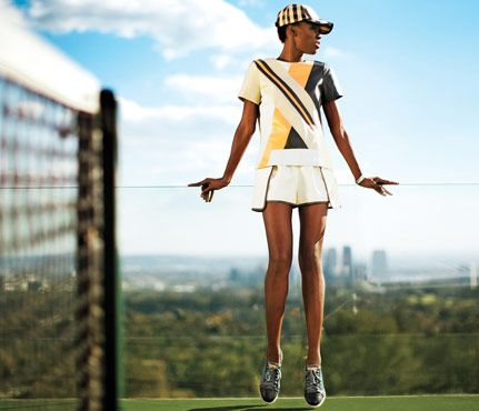 TennisInspired Clothes This Season's Chic, EasytoWear Trend is part of Sport Clothes Inspiration - Make a racket off the court with these clothes inspired by the classic court game  We've got two words lovelove!