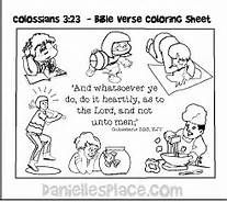 Colossians 3 23 Coloring Page Bing Images Vbs 2016 Colossians