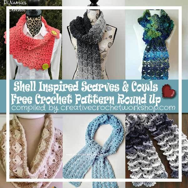 SHELL INSPIRED SCARVES & COWLS | FREE CROCHET PATTERN ROUND UP ...